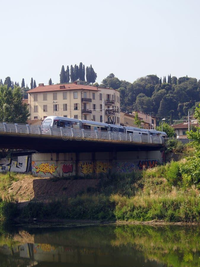 L'Italie, Toscane, Florence, le traway image libre de droits