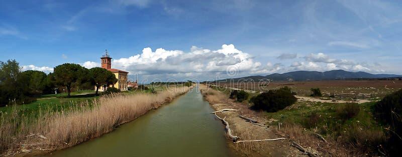 L'Italie Toscane Grosseto Maremma Alberese, parc naturel d'Uccellina image libre de droits