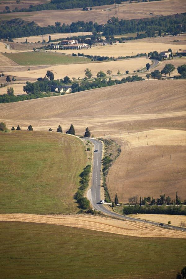 L'Italie, Toscane, Sienne, pays de Pienza photo stock