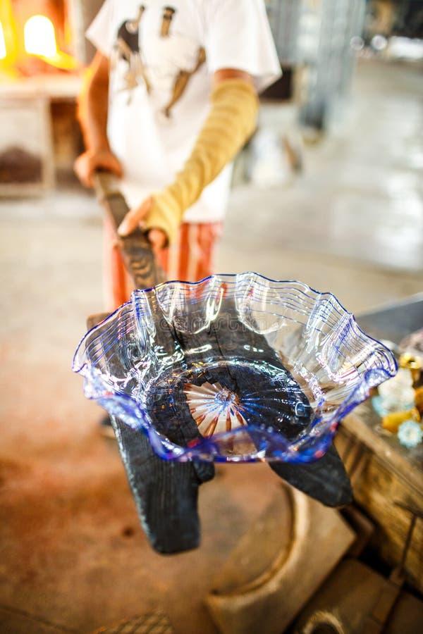 L'Italie - Venise - le Murano - production du verre célèbre de Murano images stock