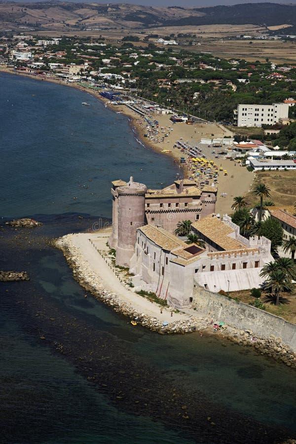 l'Italie, vue aérienne de la côte tirrenian image libre de droits