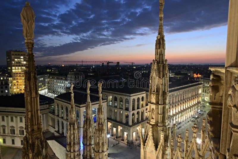 L'Italie - vue des Di Milan de Duomo images stock