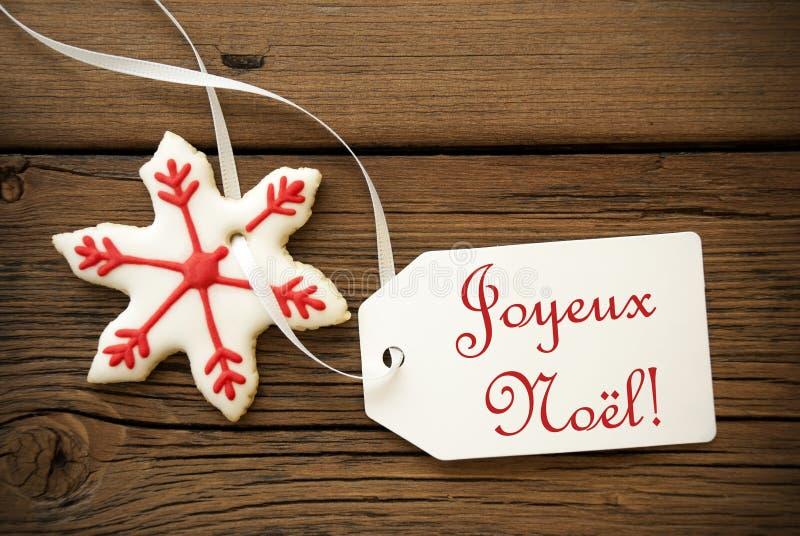 ½ l ¿ Joyeux Noï, французские приветствия рождества стоковая фотография