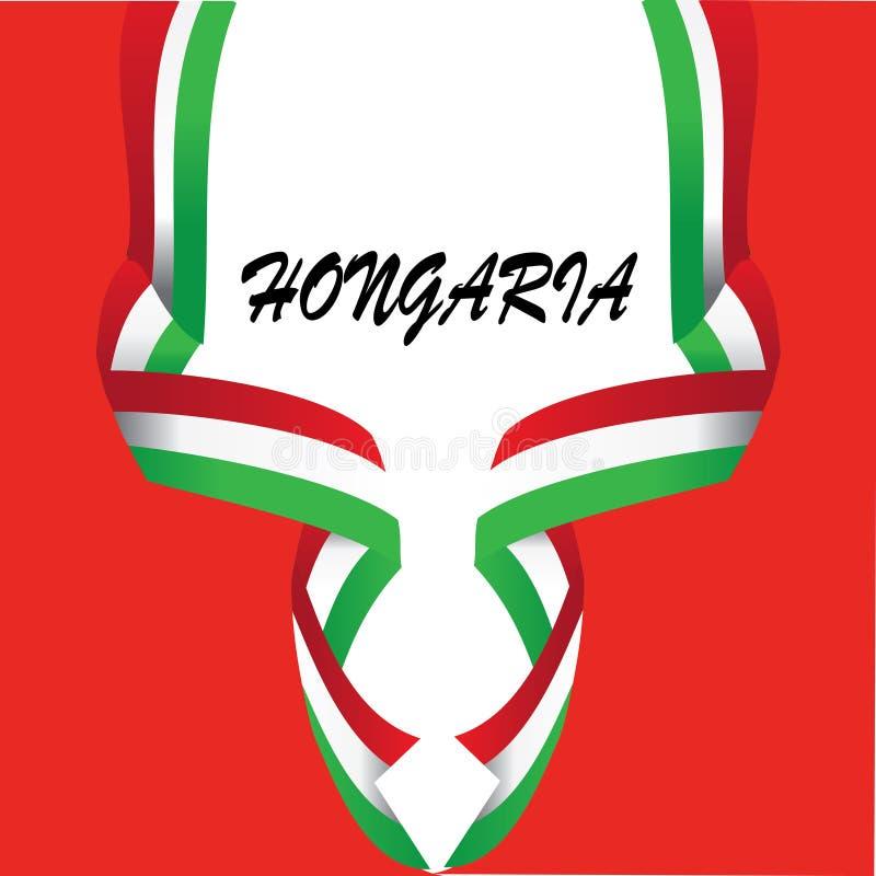 ?l?ment de conception pour le drapeau national de HONGARIA - vecteur illustration stock