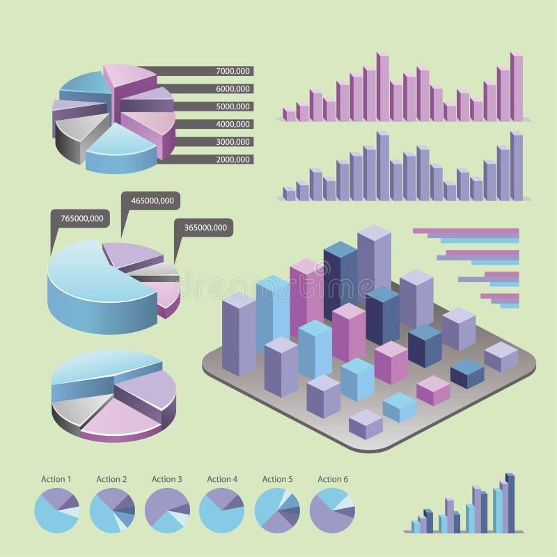 ?l?ments d'Infographic - barre et ligne diagrammes, infographics de personnes, diagrammes, ?tapes/options, indicateurs de progr?s illustration stock