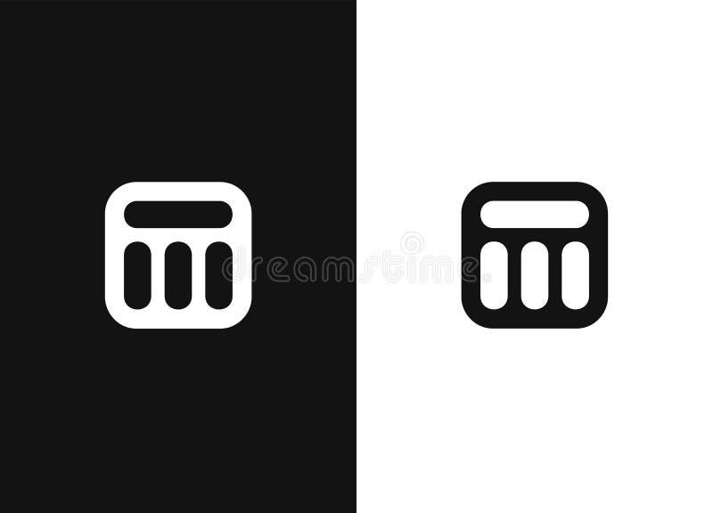 ?l?ments de calibre de conception de logo de la lettre initiale M illustration stock
