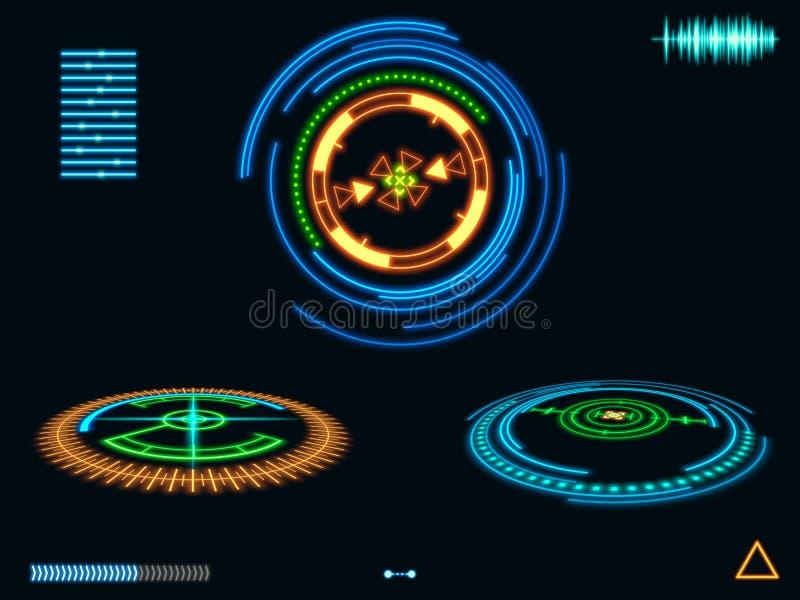 ?l?ments futuristes d'interface de HUD Illustration de Digital illustration libre de droits