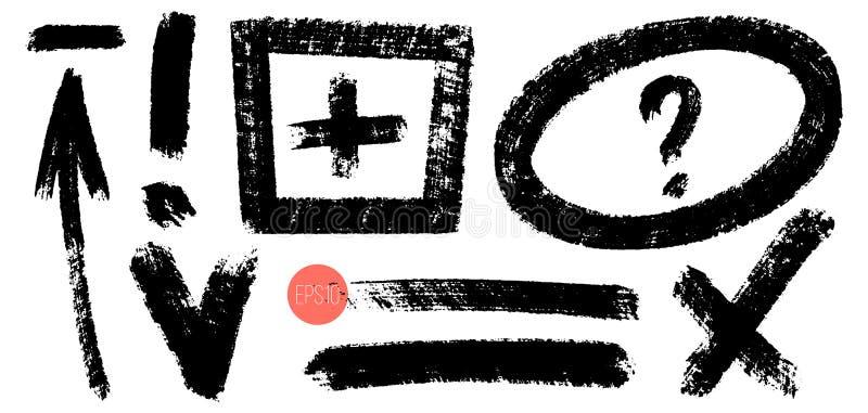 ?l?ments tir?s par la main de conception de vecteur Notes et marques tirées de crayon Placez des éléments artistiques tels que la illustration stock