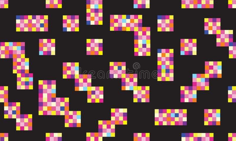 L modèle sans couture géométrique abstrait Fond pointillé élégant de pixel illustration de vecteur