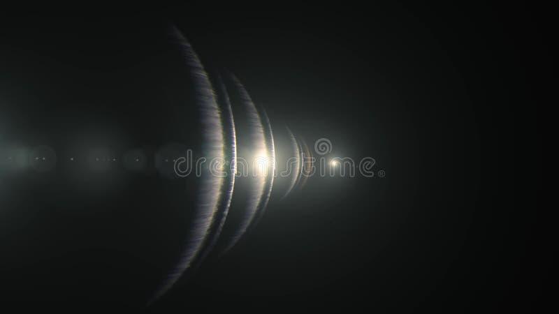 L?mpara de la iluminaci?n natural del bokeh de las llamaradas de la lente ?ptica de las luces la nueva del ejemplo del fondo bril imagen de archivo