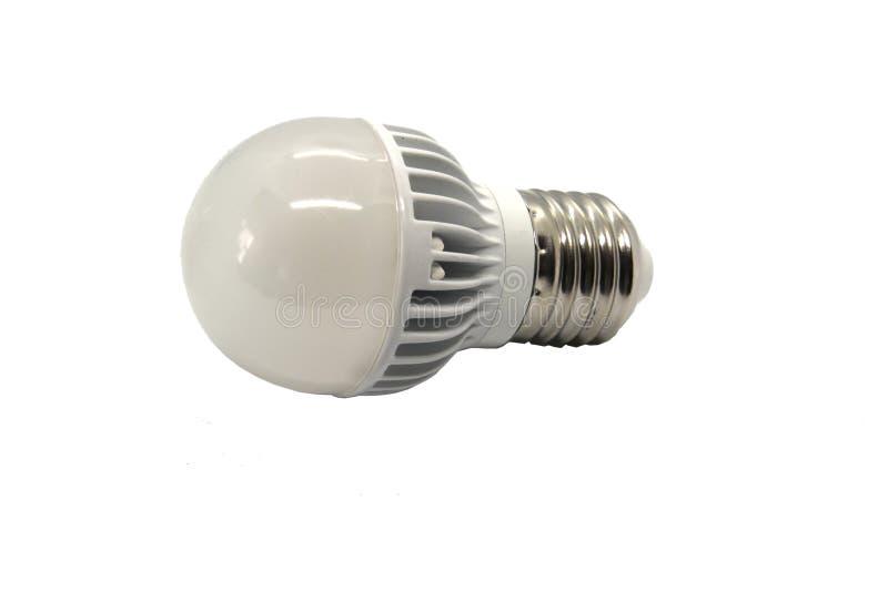 L?mpara del LED en un fondo blanco fotos de archivo libres de regalías