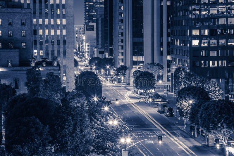 L.A. na noite imagens de stock royalty free