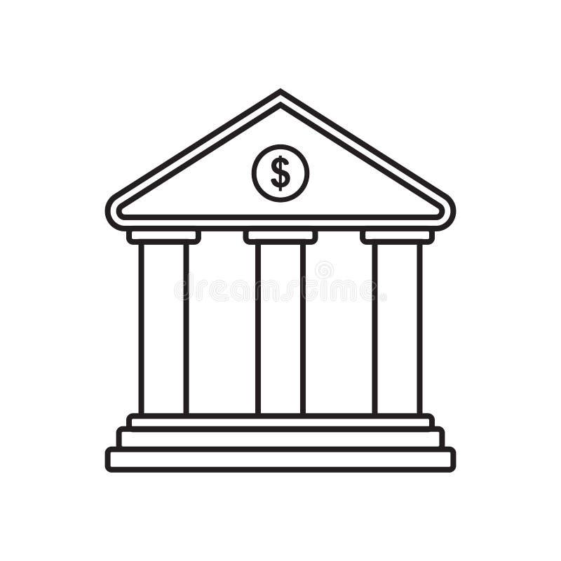 L?nea banco del icono stock de ilustración