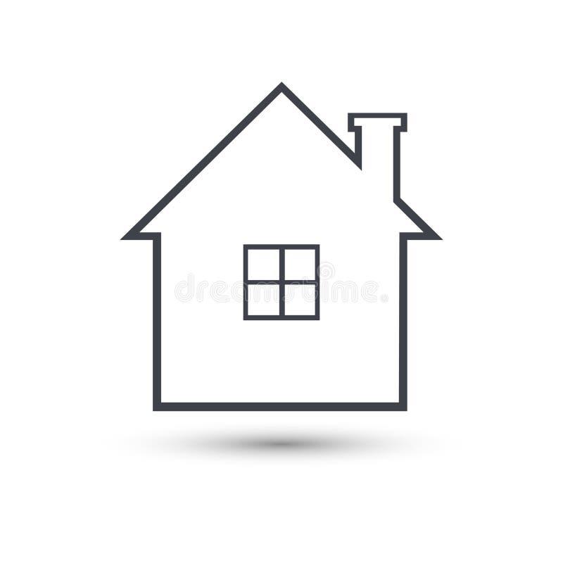 L?nea casera icono del vector S ilustración del vector