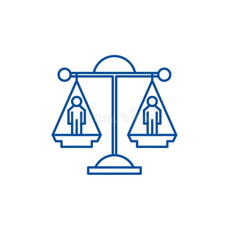 L?nea concepto de la decisi?n legal del icono Símbolo plano del vector de la decisión legal, muestra, ejemplo del esquema libre illustration
