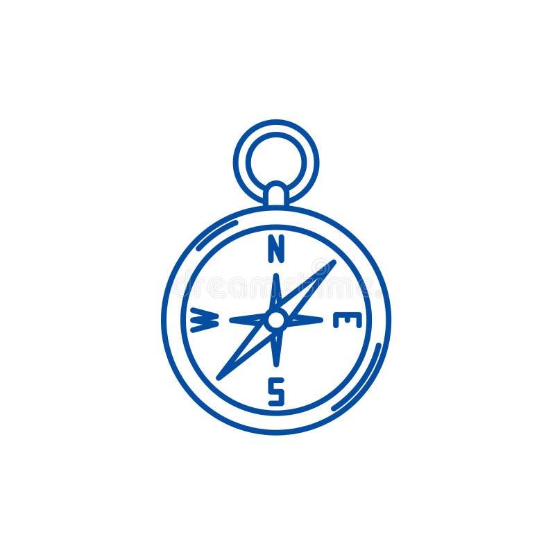 L?nea concepto del comp?s de la navegaci?n del icono S?mbolo plano del vector del comp?s de la navegaci?n, muestra, ejemplo del e libre illustration