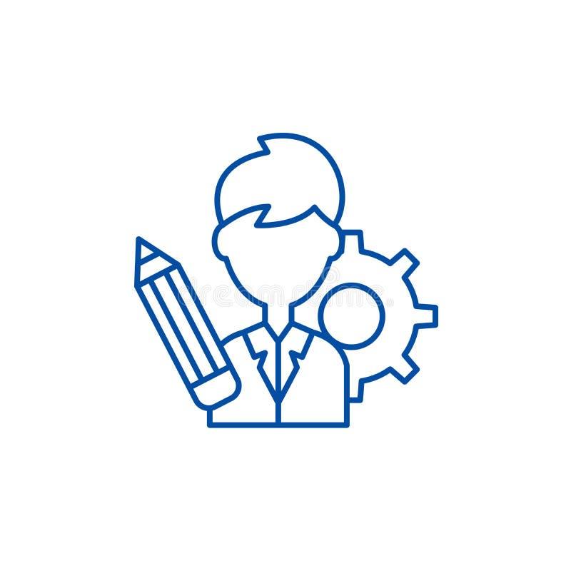 L?nea concepto del consultor de negocio del icono S?mbolo plano del vector del consultor de negocio, muestra, ejemplo del esquema stock de ilustración