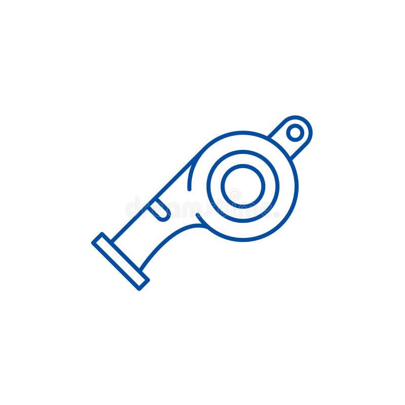 L?nea concepto del silbido del icono S?mbolo plano del vector del silbido, muestra, ejemplo del esquema stock de ilustración