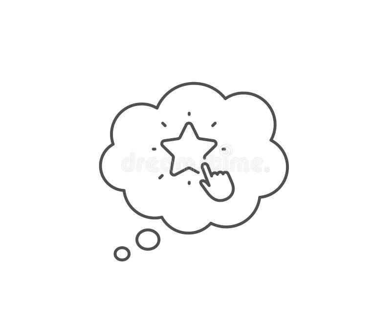 L?nea de clasificaci?n icono de la estrella Muestra del grado del tecleo La mejor fila Vector ilustración del vector