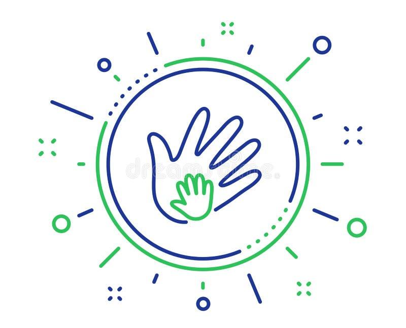 L?nea de mano icono Muestra de la responsabilidad social Vector libre illustration