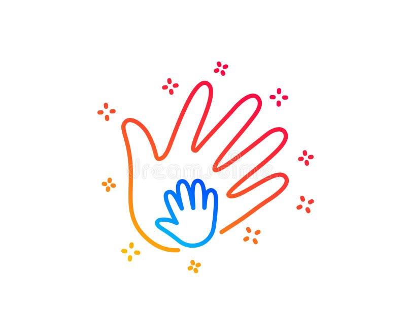 L?nea de mano icono Muestra de la responsabilidad social Vector ilustración del vector