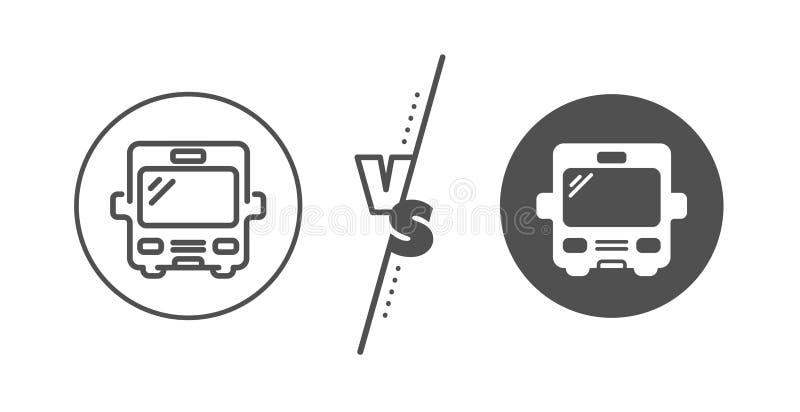L?nea de transporte del autob?s icono Muestra del veh?culo del transporte Vector ilustración del vector