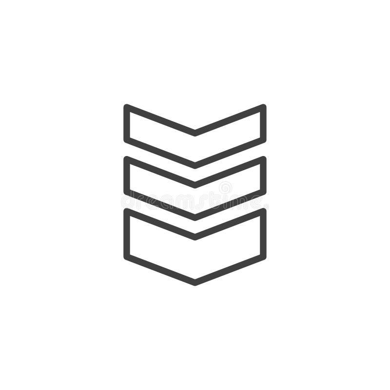 L?nea espesa icono de las correas de hombro libre illustration