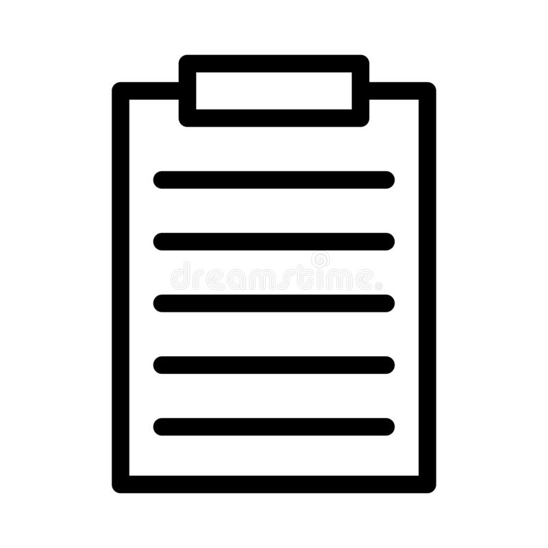 L?nea fina icono del documento ilustración del vector