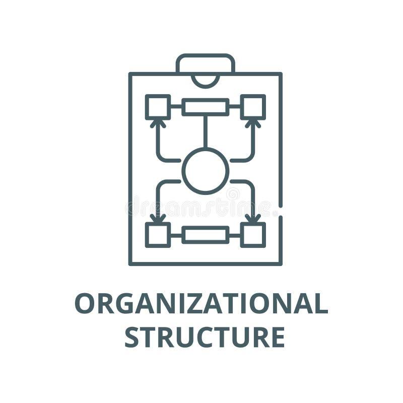 L?nea icono, concepto linear, muestra del esquema, s?mbolo del vector de la estructura de organizaci?n ilustración del vector