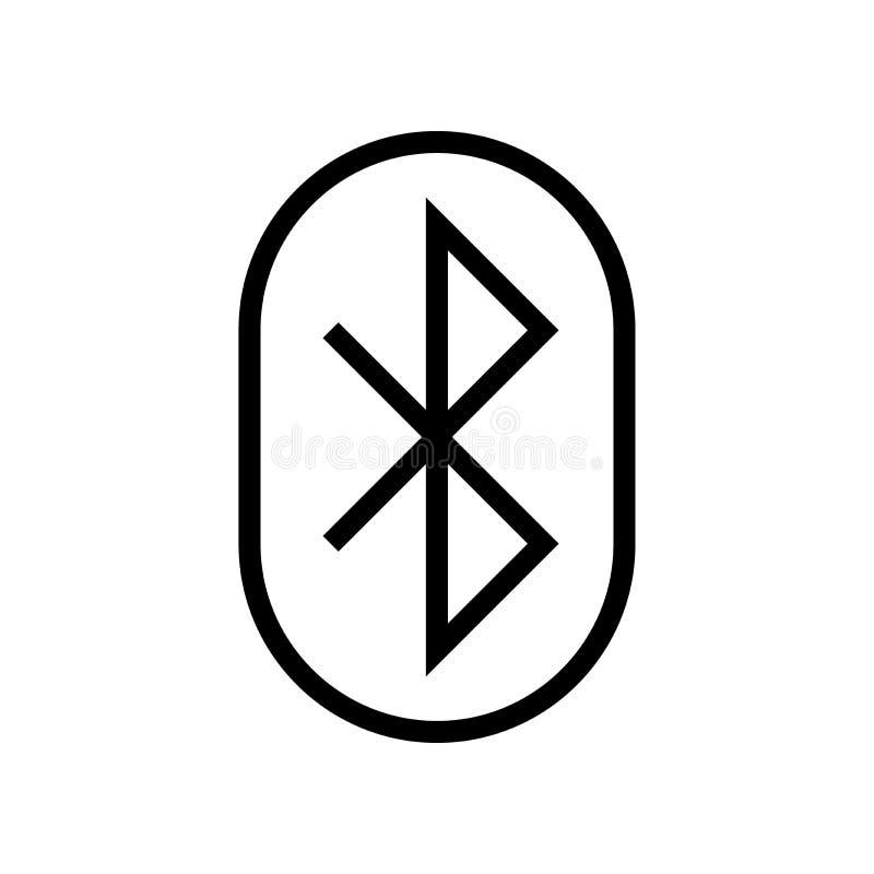 L?nea icono de Bluetooth ilustración del vector