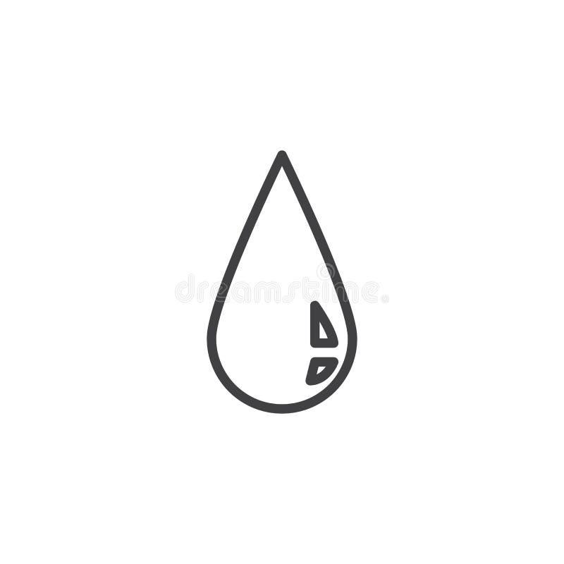 L?nea icono de gota de sangre libre illustration