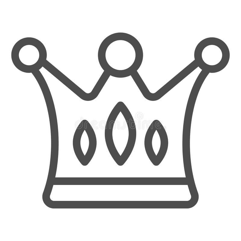 L?nea icono de la corona Ejemplo majestuoso del vector aislado en blanco Dise?o del estilo del esquema de los derechos, dise?ado  stock de ilustración