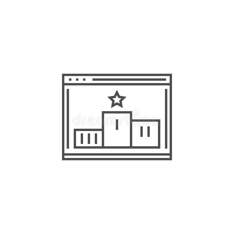 L?nea icono de la graduaci?n del sitio web libre illustration