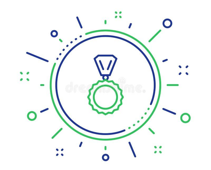 L?nea icono de la medalla del premio Logro del ganador Vector libre illustration
