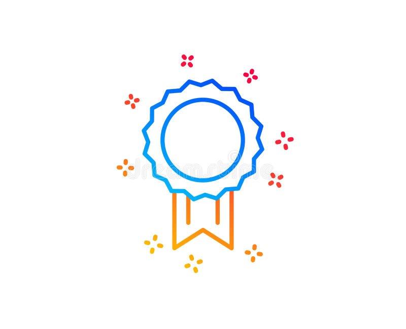 L?nea icono de la medalla del premio Logro del ganador Vector ilustración del vector