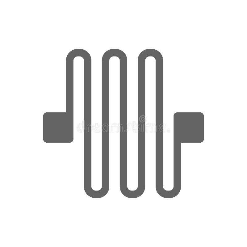 L?nea icono de la placa de circuito ilustración del vector