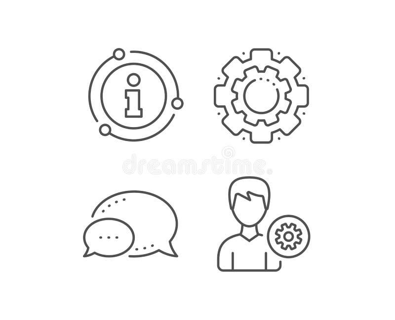 L?nea icono de las configuraciones del usuario Muestra masculina del perfil Vector ilustración del vector