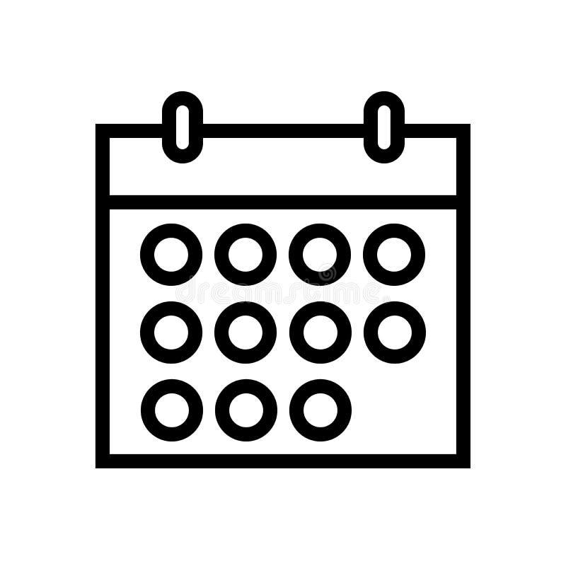 L?nea icono del calendario ilustración del vector