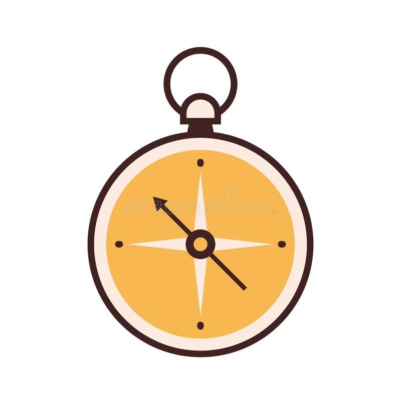L?nea icono del comp?s ilustración del vector