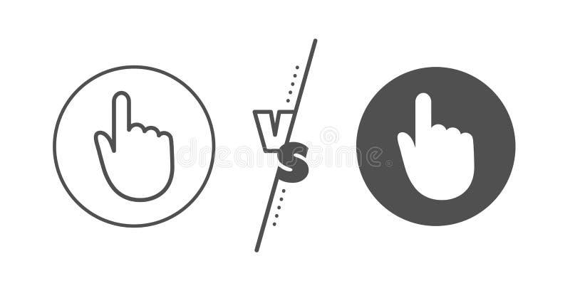 L?nea icono del tecleo de la mano Muestra del tacto del finger Vector ilustración del vector