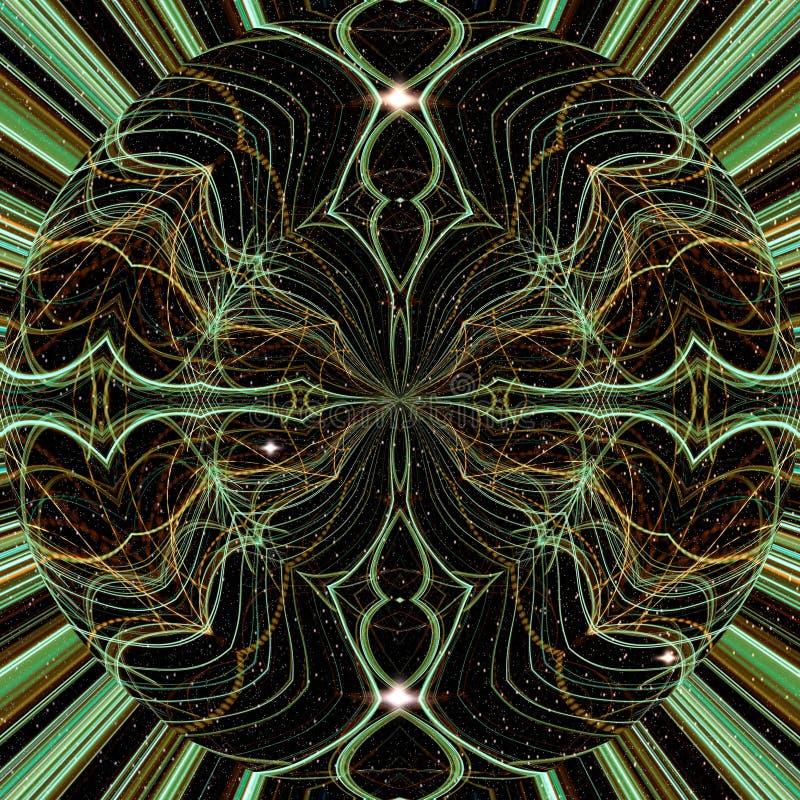 L?nea ligera de la noche, modelo ligero incons?til, fondo abstracto ilustración del vector