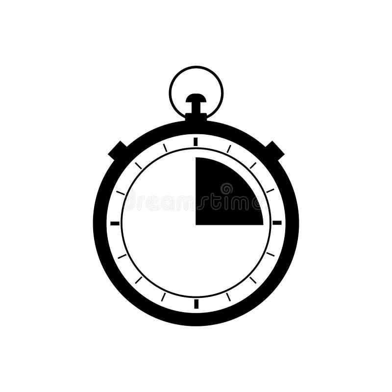 L?nea r?pida icono del cron?metro Muestra rápida del servicio de envío de la entrega Urgencia del símbolo del reloj de la velocid ilustración del vector