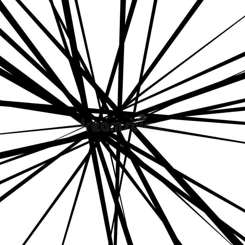L?neas blancos y negros abstractas fondo stock de ilustración