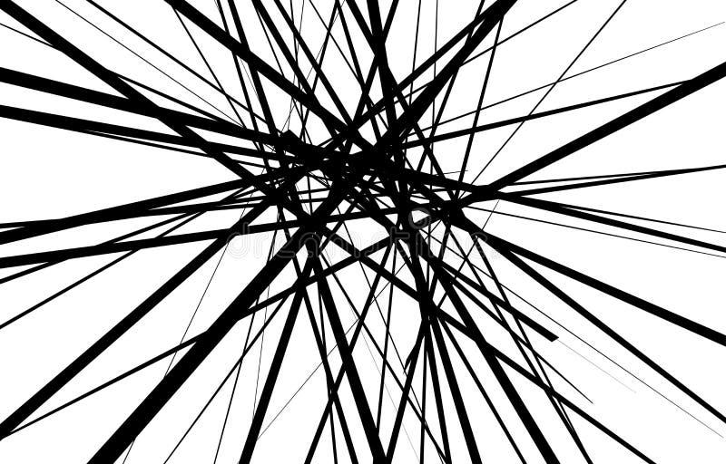 L?neas blancos y negros abstractas fondo ilustración del vector