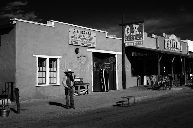L'O k Corral, pierre tombale, AZ photographie stock