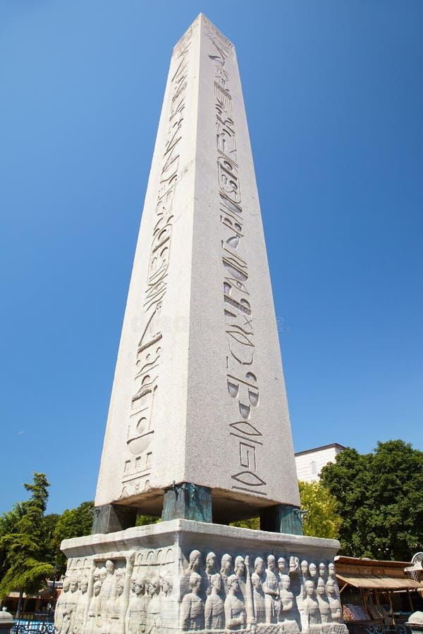 L'obélisque de Theodosius (obélisque égyptien), Istanbul photos libres de droits