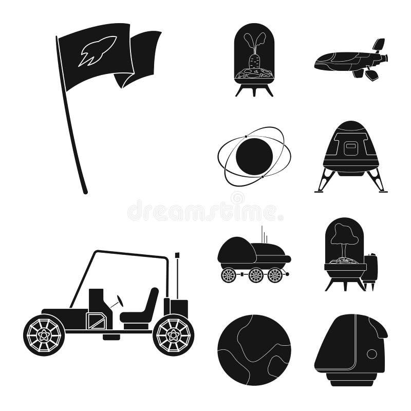 L'objet d'isolement de trouble et le logo de l'espace La collection de trouble et l'icône de vecteur de planète pour des actions illustration stock