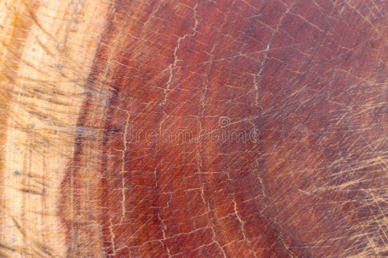 L'obscurité de Brown a rayé la coupe en bois, hachoir Texture en bois photos libres de droits