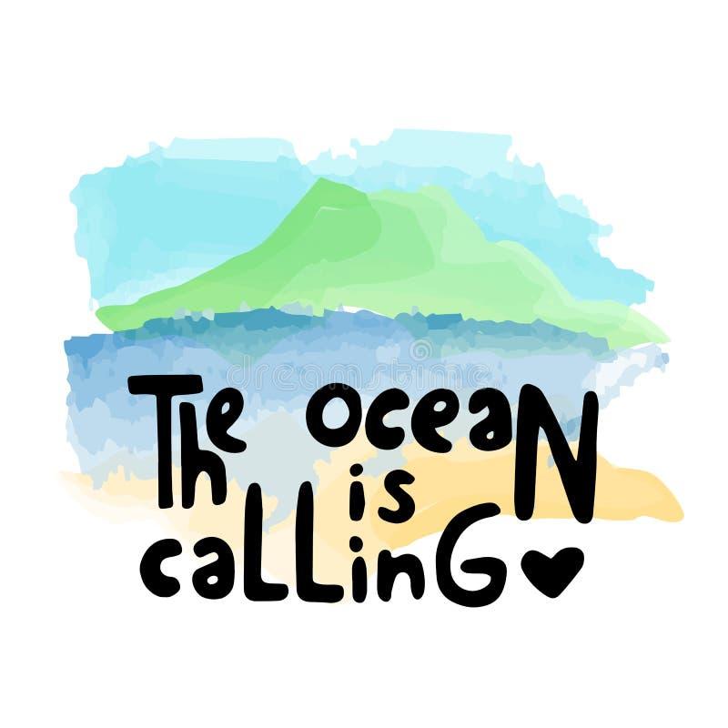 L'océan appelle l'illustration illustration libre de droits