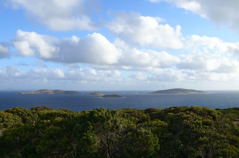 l'Océan Indien frais avec des îles photographie stock libre de droits